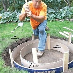 How to Build a DIY Fire Pit — The Family Handyman Fire Pit Base, How To Build A Fire Pit, Cool Fire Pits, Diy Fire Pit, Fire Pit Backyard, Fire Fire, Fire Pit Kits, Back Yard Fire Pit, Fire Pit Bench