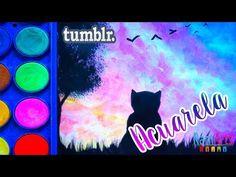 Acuarela fácil - Nivel Principiantes- dibujo Atardecer estilo TUMBLR - YouTube Sketch Style, Tumblr Bff, Dibujos Tumblr A Color, Gif Disney, Projects For Adults, Girls Anime, Children Images, Casino Theme, Party Signs
