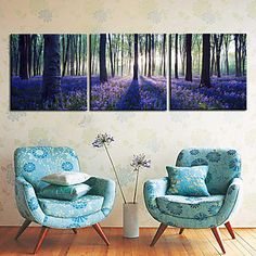 Landscape Canvas Print Other Artists Stretched Canvas Print/Canvas Set Three Panels Ready to Hang – AUD $ 71.75