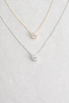 Birthstone Necklace (sterl.)