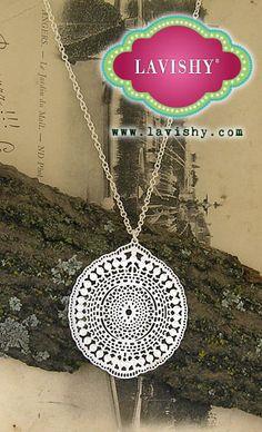 LAVISHY filigree necklace. #jewelry, #earrings, #lavishy, @Lavishy Boutique