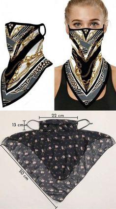 Fashion Sewing, Diy Fashion, Ideias Fashion, Womens Fashion, Fashion Dresses, Mouth Mask Fashion, Fashion Face Mask, Easy Face Masks, Diy Face Mask