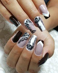 Gothic Nails, Girl Trends, Manicure Y Pedicure, Nails Inspiration, Nail Art Designs, My Nails, Nail Stuff, Nail Bling, Adhesive