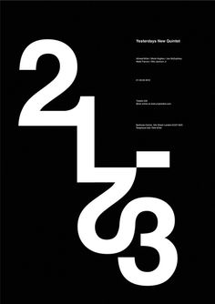 Yesterdays New Quintet, poster submitted and designed by Jacek Rudzki(2013) –Type OnlyUnit Editions