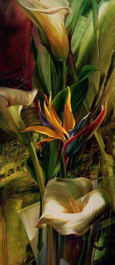 Vie Dunn-Harr  #painting #art_work #contemporary_art #flowers on #Pinterest