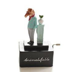 ZAA杂啊 动物王国精致手摇音乐盒 八音盒 黑色系创意生日礼物的图片