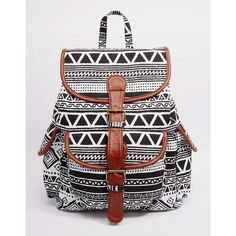 Yoki Fashion Printed Backpack ($29) ❤ liked on Polyvore featuring bags, backpacks, black, backpacks bags, black backpack, rucksack bag, black bag and black rucksack