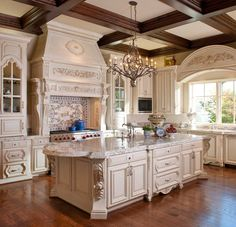 70 Beautiful French Country Kitchen Design and Decor Ideas Fren. - 70 Beautiful French Country Kitchen Design and Decor Ideas French country kitchen - Country Kitchen Inspiration, Country Kitchen Designs, French Country Kitchens, French Country Decorating, Kitchen Country, Country French, Italian Style Kitchens, French Decor, Country Living