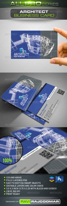 Architect Business Card  #GraphicRiver          CS3 and above  Fully layered…