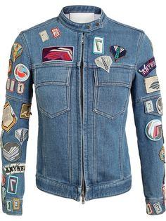 3.1 PHILLIP LIM Denim Jacket With Badge Appliqué #farfetch
