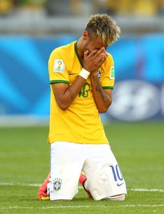 Neymar Photos Photos - Neymar of Brazil reacts after defeating Chile in a penalty shootout during the 2014 FIFA World Cup Brazil round of 16 match between Brazil and Chile at Estadio Mineirao on June 28, 2014 in Belo Horizonte, Brazil. - Brazil v Chile: Round of 16 - 2014 FIFA World Cup Brazil