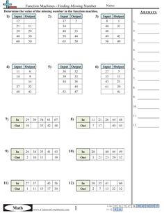 Printables Tutoring Worksheets worksheets and patterns on pinterest common core math function machine worksheets