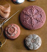 crochet buttons. love these...BECKKKYYY. Ha