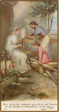 First steps of the infant Jesus. Catholic Art, Catholic Saints, Roman Catholic, Religious Photos, Religious Art, Jesus Mary And Joseph, Vintage Holy Cards, Holy Mary, Jesus Pictures