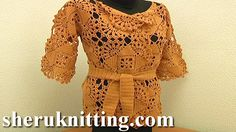 CROCHET CARDIGAN FREE PATTERN Tutorial 5 Part 1 of 2.http://www.sheruknitting.com/sherufashion/crochet-and-knitting-clothes/item/710-crochet-cardigan-free-pattern.html  In this crochet video tutorial you will learn how to make a beautiful square motif that can be used not only for a jacket or a cardigan.