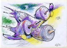 Original de la serie de Batinaves / Ilustración: Clemente Montag