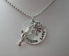 Molon Labe Metal stamped charm by jc2177 on Etsy, $18.50
