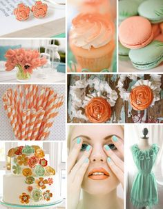tangerine and seafoam inspiration. beyond obsessed with the earrings.