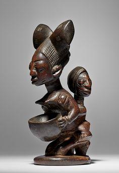 Yoruba Agere Ifa Bowl  Collected 1950-60