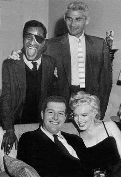 Sammy Davis Jr, Jeff Chandler, Arthur Silber Jr, Marilyn Monroe (Beverly Hills circa 1954)