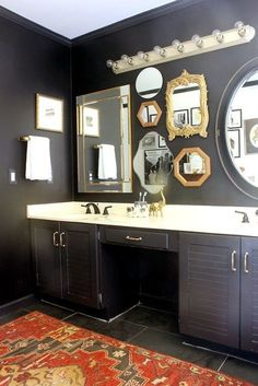 Cool And Contemporary mounting a bathroom wall cabinet only in homesaholic design Modern Bathroom Lighting, Modern Bathroom Design, Bathroom Interior Design, Bedroom Decor Dark, Bedroom Decor Lights, Small Bathroom, Master Bathroom, Bathroom Black, Bathrooms