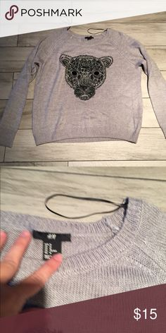 H&M sequined sweater Good condition without flaws. H&M Sweaters Crew & Scoop Necks