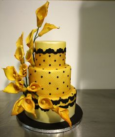 By Flour Confections in Pickering, ON Lemon Wedding Cakes, Amazing Wedding Cakes, Amazing Cakes, Pretty Cakes, Beautiful Cakes, French Cake, Incredible Edibles, Edible Cake, Mellow Yellow
