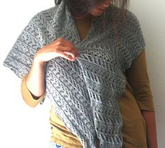 Plover Shawl by Amy Christoffers Swans Island Natural Colors Merino Fingering Swans Island Pure Blends Fingering