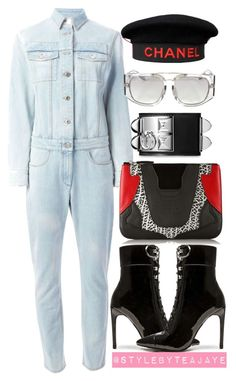 """Untitled #1946"" by stylebyteajaye ❤ liked on Polyvore featuring Givenchy, Jeffrey Campbell, Chanel, Alexander Wang, Hermès and Linda Farrow"