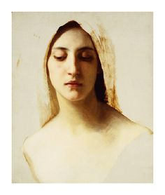 William Adolphe Bouguereau, Study of a Woman's Head for Charity