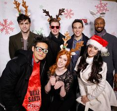 The cast of Shadowhunters is feeling festive at Winter Wonderland!