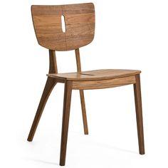 Chaise de Repas Diuna en teck conçue pour l'extérieur. Jardinchic