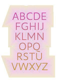 ABC with radiation. #typeface #typedesign #typography #typespecimen #alphabet #capitals #typeposter #type