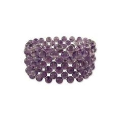 NOVICA Hand Made Amethyst Beaded Bracelet from India (1,700 THB) ❤ liked on Polyvore featuring jewelry, bracelets, amethyst, wristband, bead bracelet, beaded jewelry, wristband bracelet, stretch bracelet and stretchy bracelet