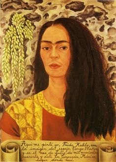 Self-Portrait with Loose Hair, Oil by Frida Kahlo (1907-1954, Mexico)