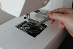 Keep sewing machine from eating fabric