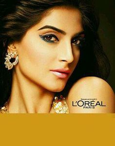 Sonam Kapoor  for @Lisa'Oreal Paris India SHE'S THE ONLY REASON MY ONLY DRUGSTORE FAVE BRAND IS L'OREAL