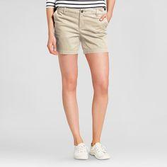 Women's 5 Chino Shorts - Merona Vintage Khaki 10