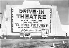 Pico Drive-In Theater c.1950 Californias first drive in theater opened September 9, 1934