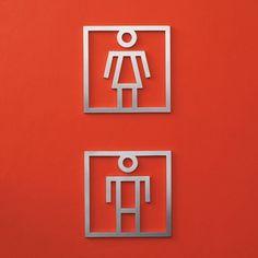 Señaletica de diseño acero inoxidable PICTOS Premio DELTA DE PLATASANICO