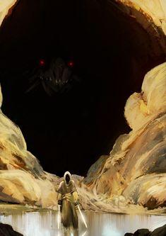 "fantasyartwatch: "" Dragon Cave by Mohammad Noureddini """