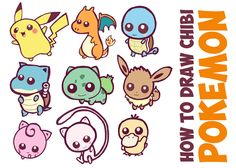 Here is a huge guide to draw cute, baby, chibi pokemon characters. These are all…