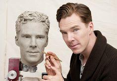 'Finally I can photobomb myself!': Benedict Cumberbatch puts final touches to Madame Tussauds waxwork