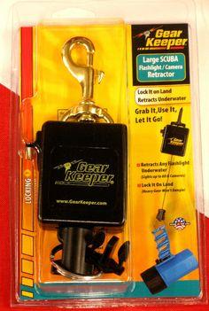 Gear Keeper Large Scuba Flashlight//Camera Locking Retractor RT3-0082