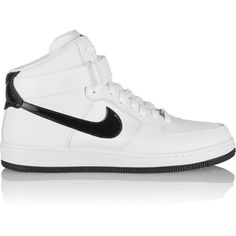 Nike Air Force 1 Ultra Force leather and canvas sneakers found on Polyvore