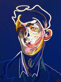abstract portrait Loribelle Spirovski Homme 2018 Oil on canvas 122 x 92 cm Abstract Portrait Painting, Portrait Art, Gcse Art Sketchbook, Ap Art, London Art, Grafik Design, Figurative Art, Oeuvre D'art, Art Inspo