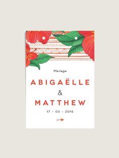 Lot de 14 cartes personnalisées à double perforation Hibiscus pour décorer vos sachets kraft, illustration à l'aquarelle