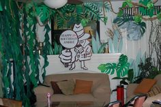 Magalie Sarnataro's props Jungle decor details  Jungle spy den Jungle Safari, Spy, Birthday, Home Decor, Birthdays, Decoration Home, Room Decor, Home Interior Design, Dirt Bike Birthday