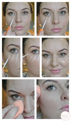 How to apply concealer in a brightening way, get rid of undereye bags by www.madeoverandme.com