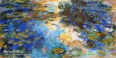 Water Lily Pond by Claude Monet - Oil Painting Reproduction - BrushWiz.com